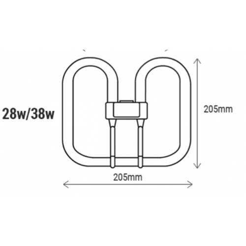 2D 28W 2pin Compact Fluorescent Bulb