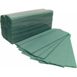 Green 1ply C-Fold Hand Towels (2400pk)