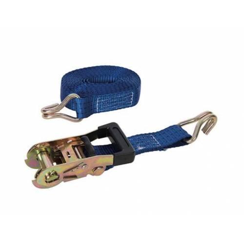 Rubber-Handled Ratchet Tie Down Strap J-Hook