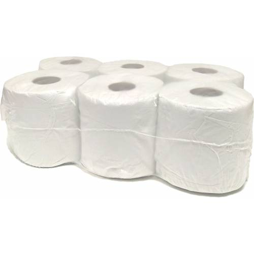 White Centrefeed Rolls 2ply (6pk)